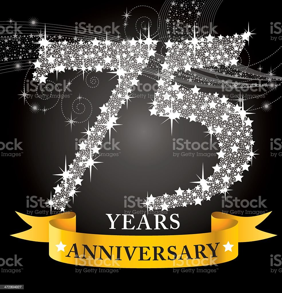 75th Anniversary vector art illustration