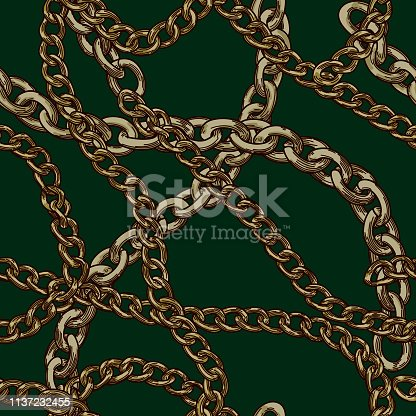 A snazzy seamless baroque gold chain pattern for all your late 80s vintage needs. Put it on your silk scarves and shirts!