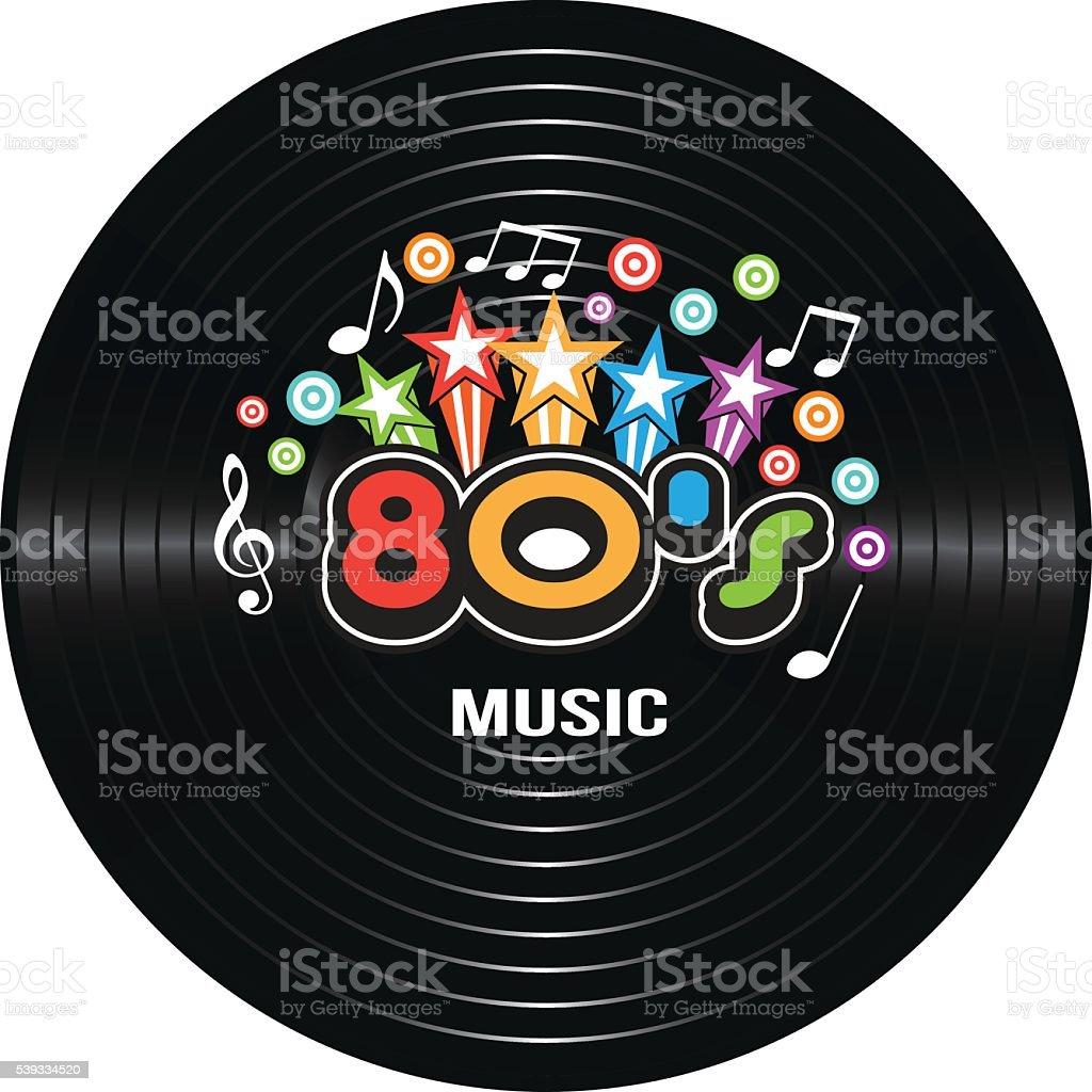 80s Music discography. Vector Illustration vector art illustration