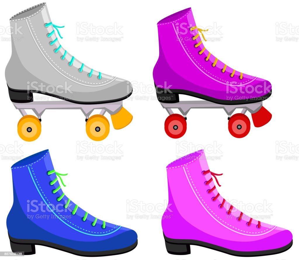 meet f575c 66e7f 80er Jahre Rollschuhe Und Schuhe Stock Vektor Art und mehr ...