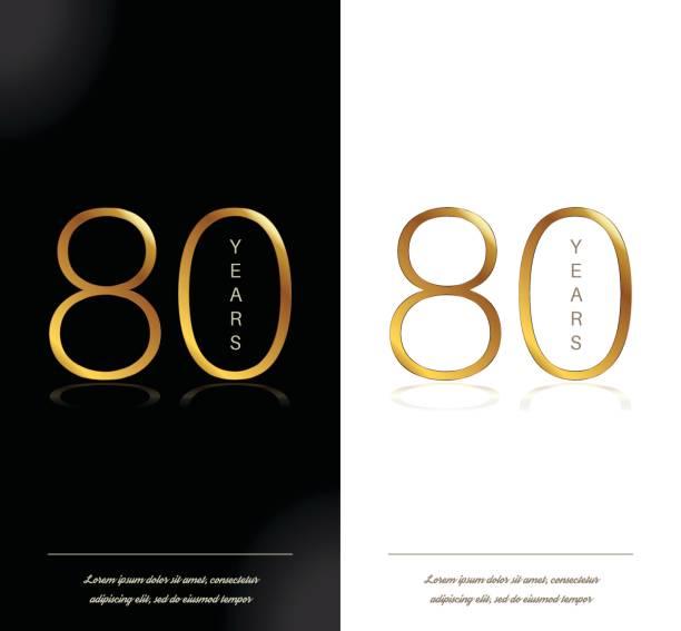 80th Birthday Clip Art Vector Images Illustrations