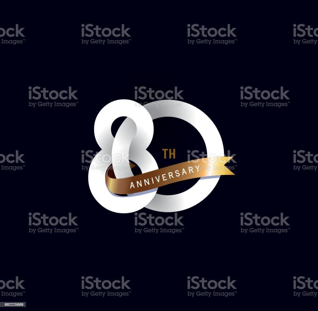 80 Geburtstagsymbol Mit Goldband Template Design Für Web Spiel ...