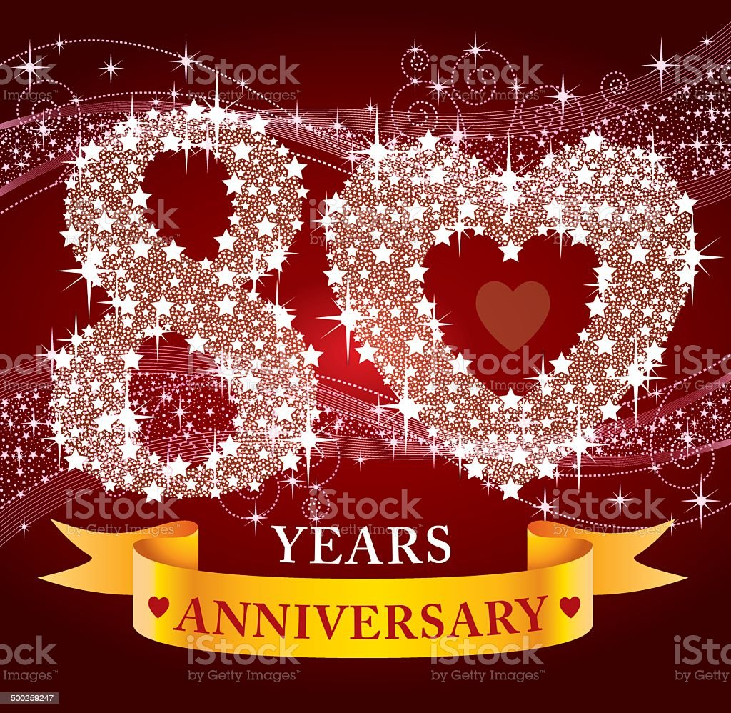 80th Anniversary royalty-free stock vector art