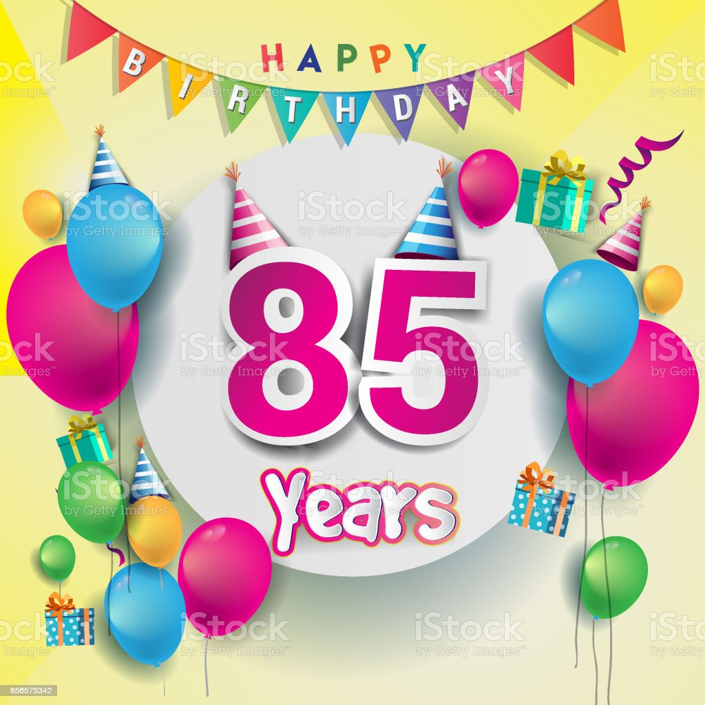 85th Years Anniversary Celebration Birthday Card Or Greeting Card