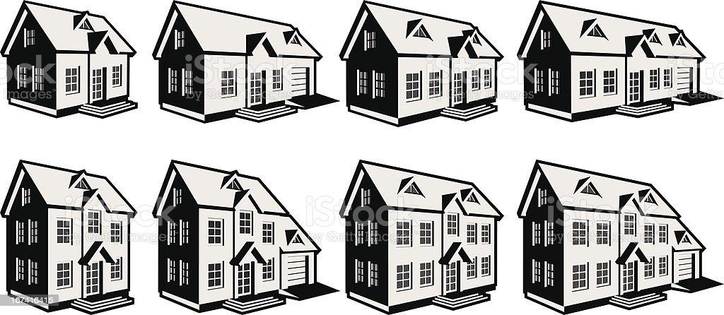8homes vector art illustration