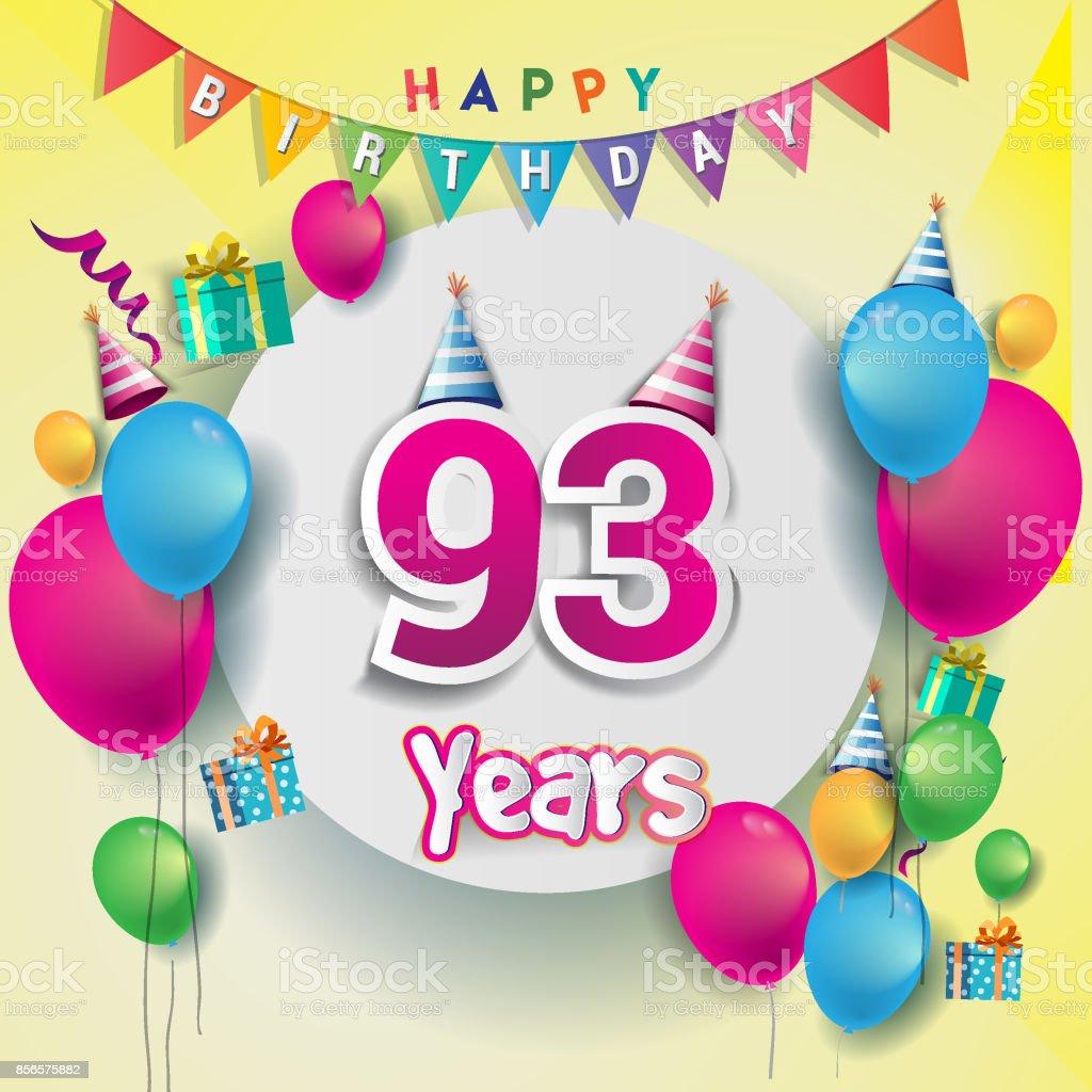 e födelsedagskort 93 E år Anniversary Celebration Födelsedagskort Eller  e födelsedagskort