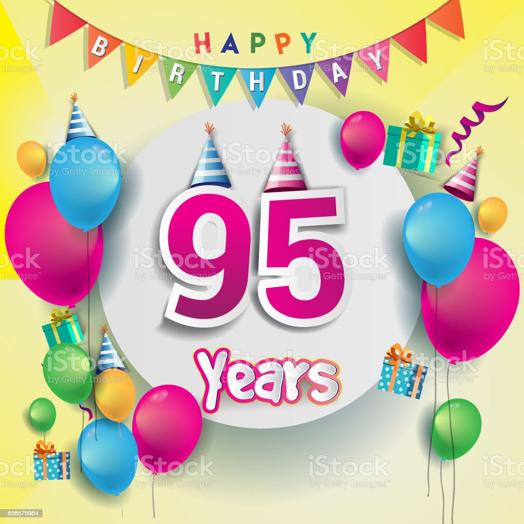 e födelsedagskort 95 E år Anniversary Celebration Födelsedagskort Eller  e födelsedagskort