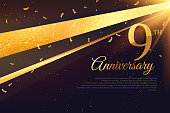 9th  anniversary celebration card template