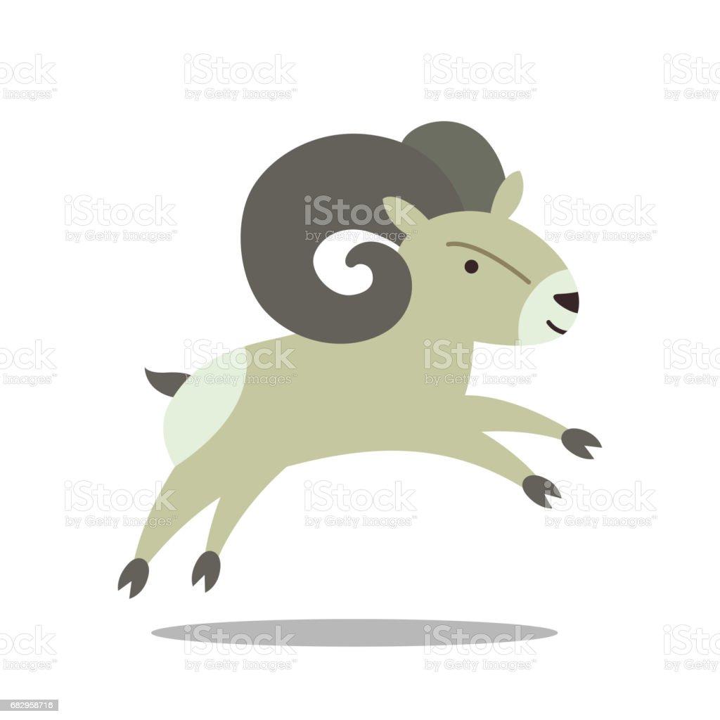 a Bighorn Sheep vector art illustration