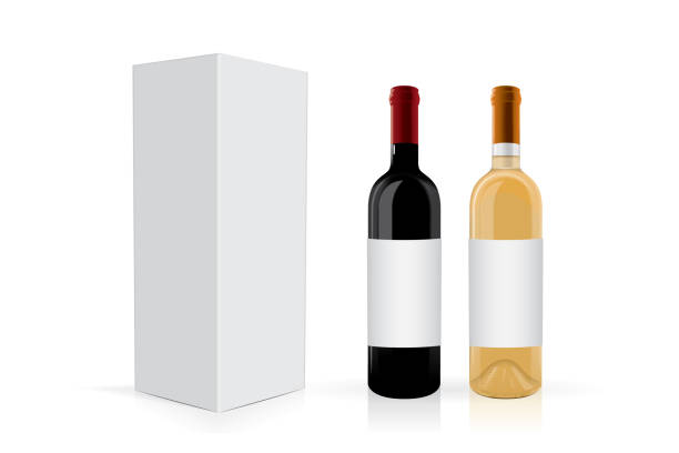 パッケージとワインのボトル - マスカット イラスト点のイラスト素材/クリップアート素材/マンガ素材/アイコン素材