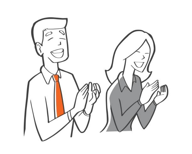 Royalty Free People Applause In Meeting Clip Art, Vector