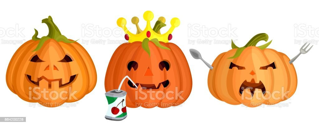 a collection of evil pumpkin vector for Halloween royalty-free a collection of evil pumpkin vector for halloween stock vector art & more images of art