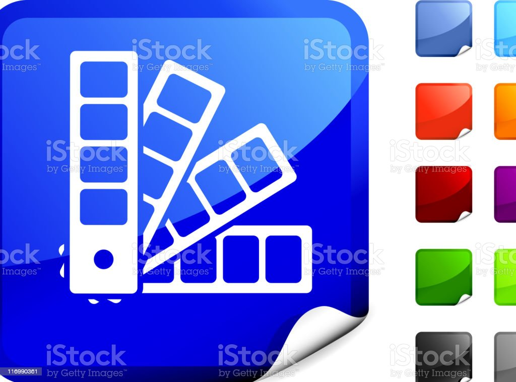 a computer icon for a color swatch book royalty-free stock vector art