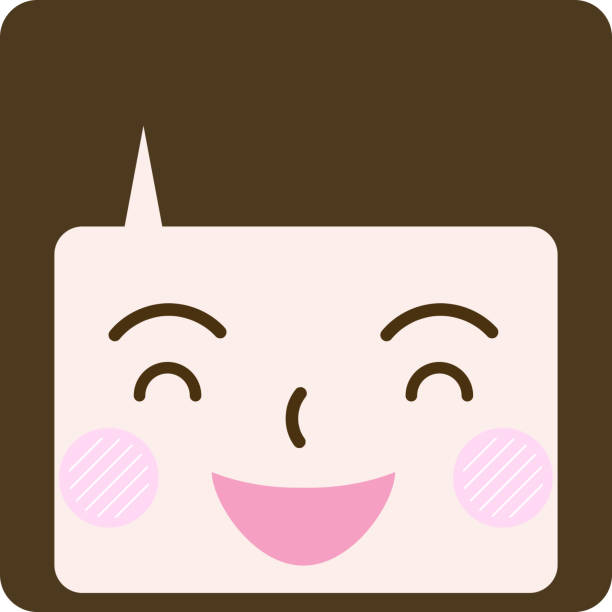a face with multitudinous expressions icon vector art illustration