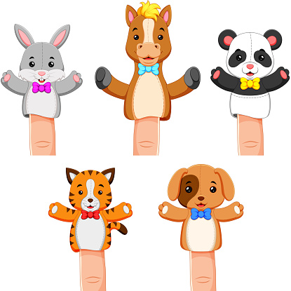 a funny colections of puppet pet animal