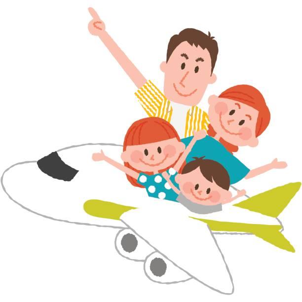 ilustraciones, imágenes clip art, dibujos animados e iconos de stock de un viaje de familia feliz - viajes familiares