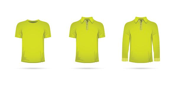 a lime green t-shirt set
