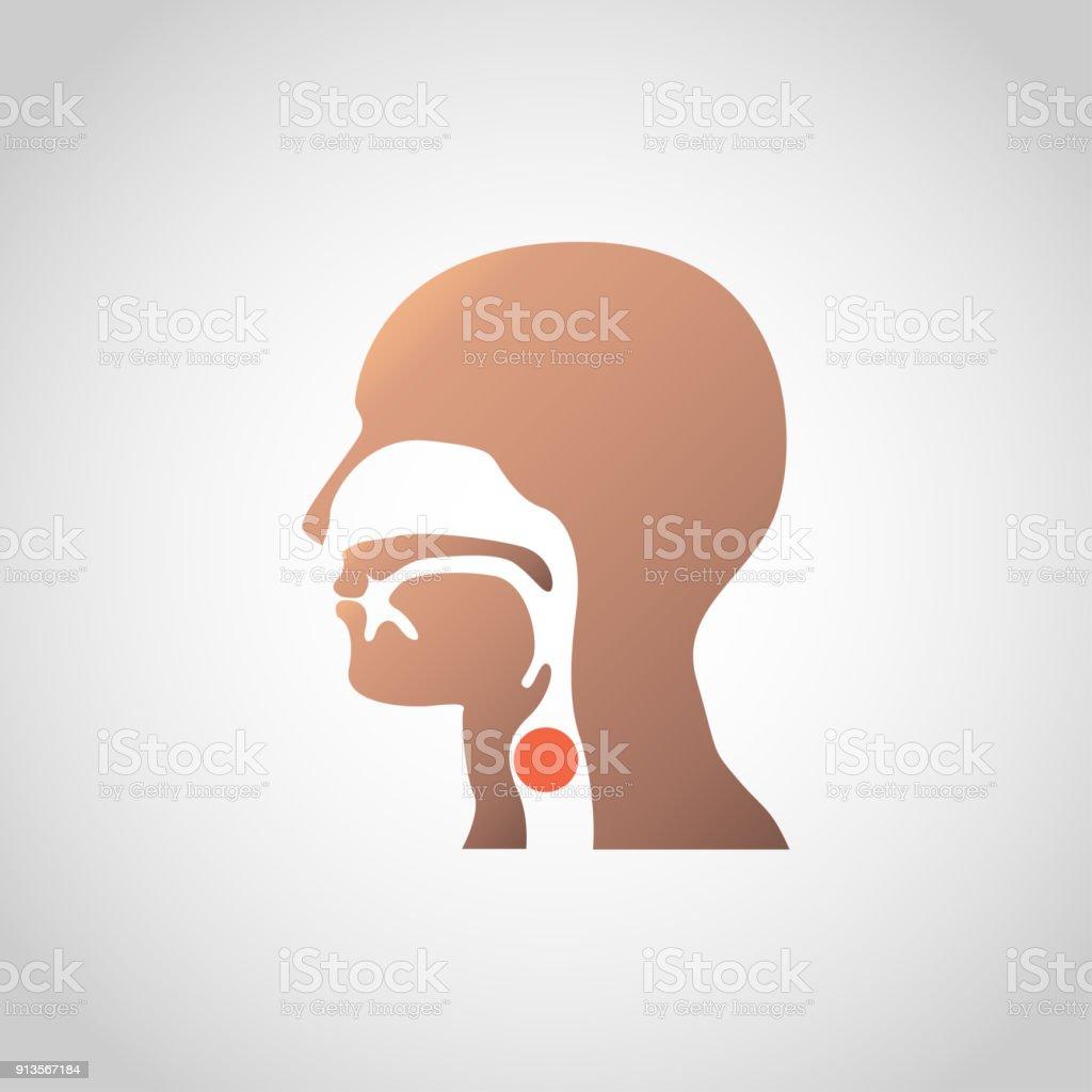 a lump in the throat icon design. Vector illustration vector art illustration
