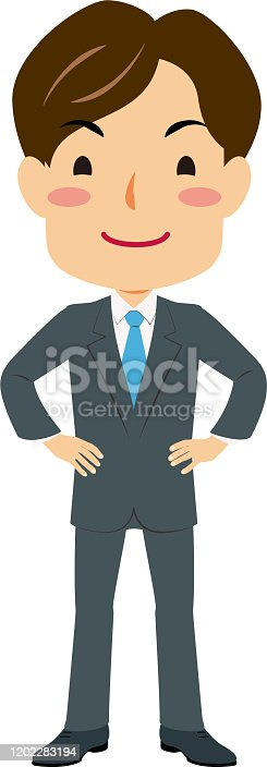 istock a man in a suit standing on Nio 1202283194