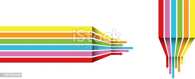 istock a rainbow coloured arrow line perspective background 1287640438