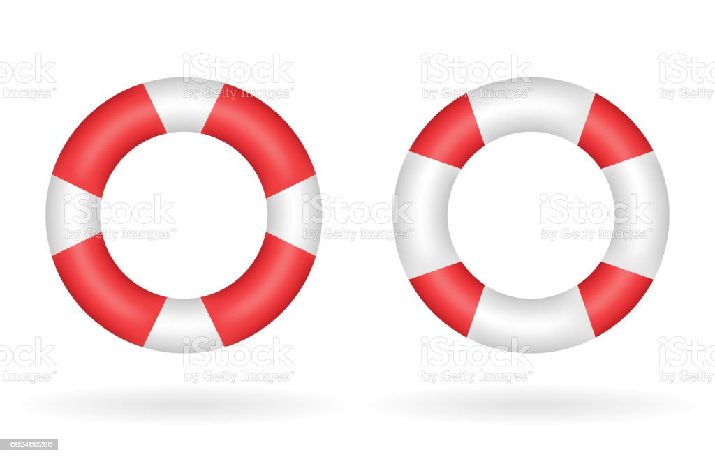 a real red white safety torus vector royalty-free a real red white safety torus vector stock vector art & more images of art