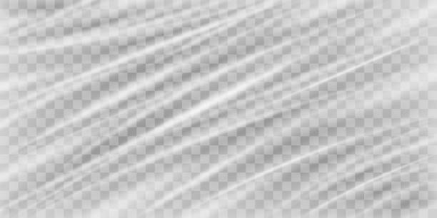 illustrazioni stock, clip art, cartoni animati e icone di tendenza di a real transparent plastic warp texture background - real life