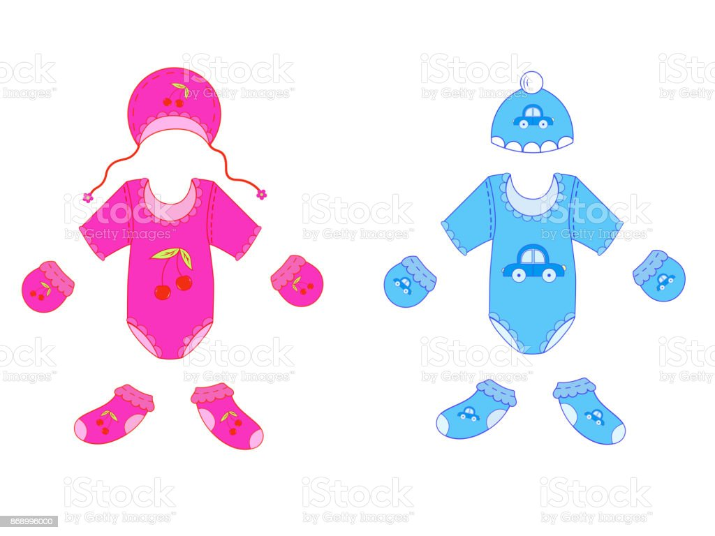 ee87431fa A Set Of Baby Clothes For Boy And Girl In Vector Stock Vector Art ...