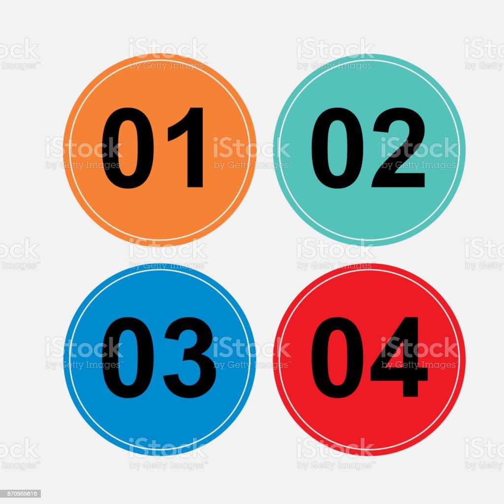 a set of circular buttons