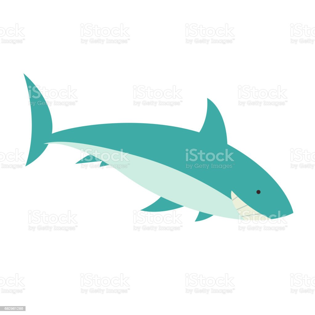 a Shark royalty-free a shark stock vector art & more images of animal