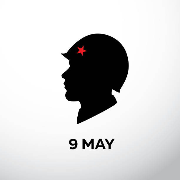 ilustrações de stock, clip art, desenhos animados e ícones de a silhouette of soldier - tape face
