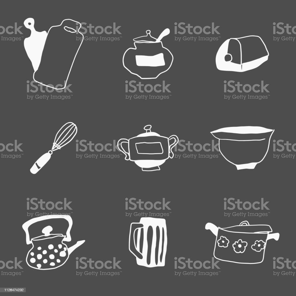 Eine Kleine Auswahl An Alles Für Die Küche Kritzeleien ...