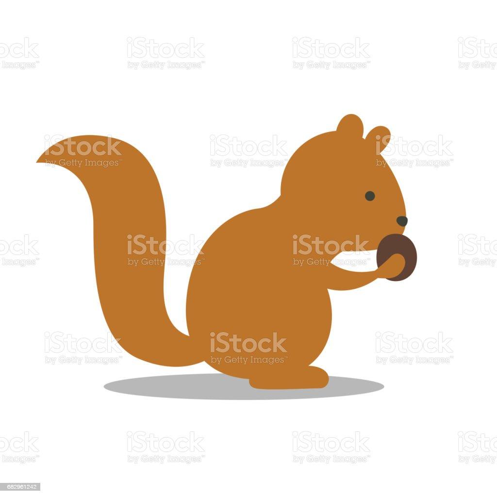 a Squirrel a squirrel - arte vetorial de stock e mais imagens de alegria royalty-free
