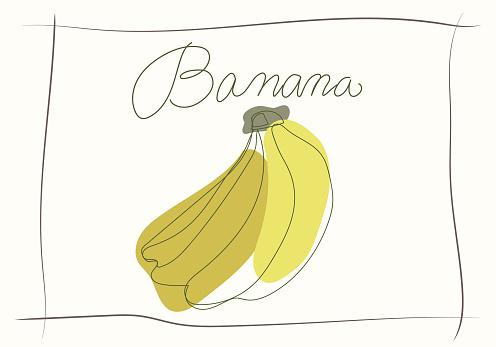 a stylish painting of bananasAbstract painting art, simple, wall-mounted art and T-shirt designs