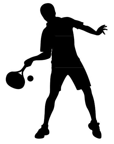 a tennis player body silhouette vector