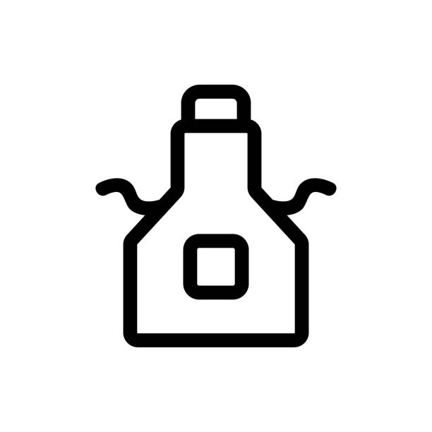 a tool for cleaning the vector icon. Isolated contour symbol illustration a tool for cleaning the vector icon. A thin line sign. Isolated contour symbol illustration streptococcus mutans stock illustrations