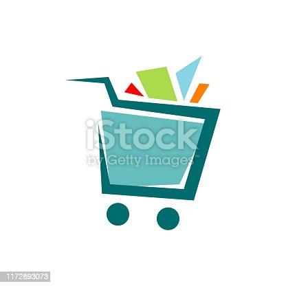 istock a trolley shopping cart logo icon design shop symbol vector illustrations 1172893073