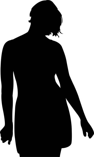a woman silhouette vector vector art illustration