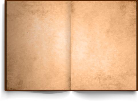 a4 open book vintage