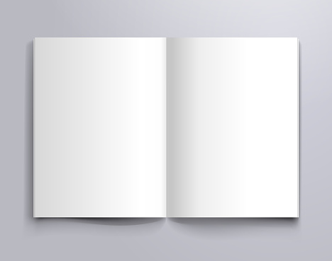 a4 open page mockup
