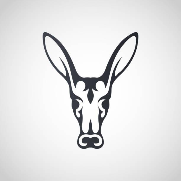 erdferkel-symbol-icon-design, vektor-illustration - ameisenbär stock-grafiken, -clipart, -cartoons und -symbole