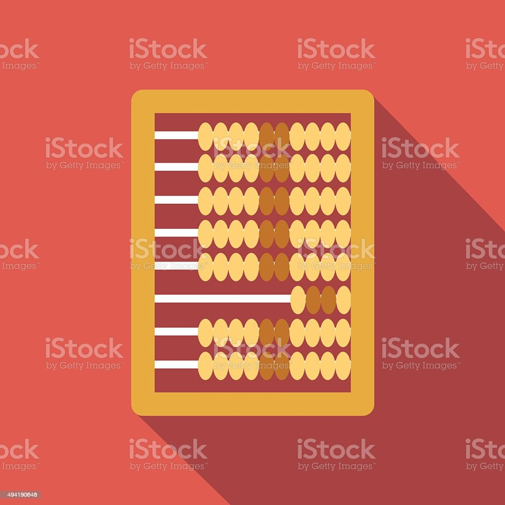 Abacus calculation flat icon vector art illustration