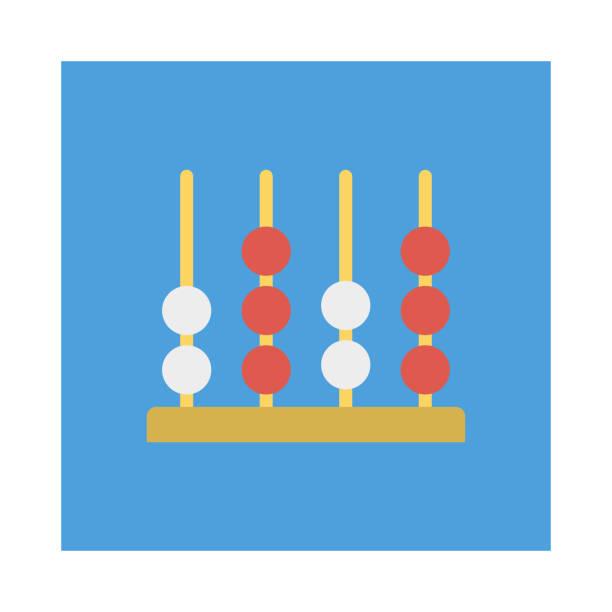 bildbanksillustrationer, clip art samt tecknat material och ikoner med abacus beräkning matematik - abakus