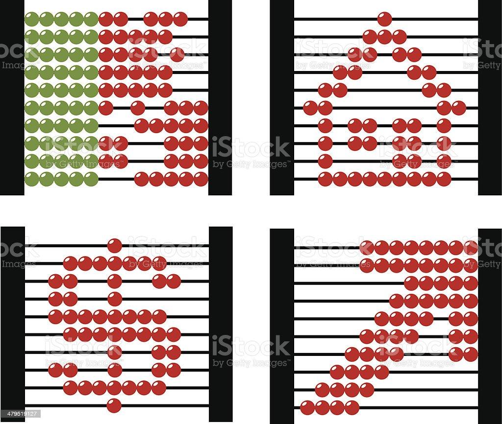 Abacus conceptual vector art illustration