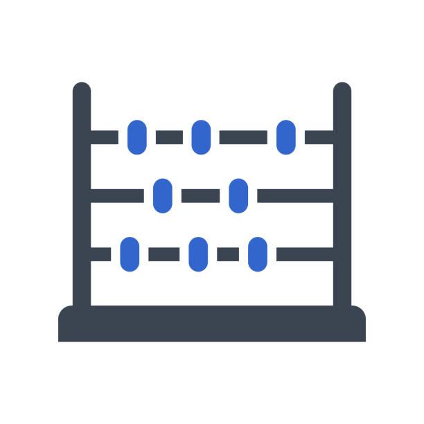 bildbanksillustrationer, clip art samt tecknat material och ikoner med ikon för abacus, utbildningsikon - abakus
