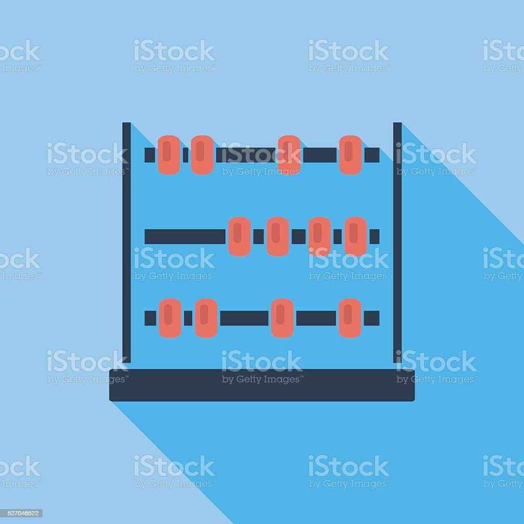 Abacus flat icon vector art illustration