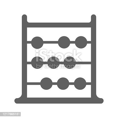 istock Abacus gray icon, calculate machine vector 1217665151