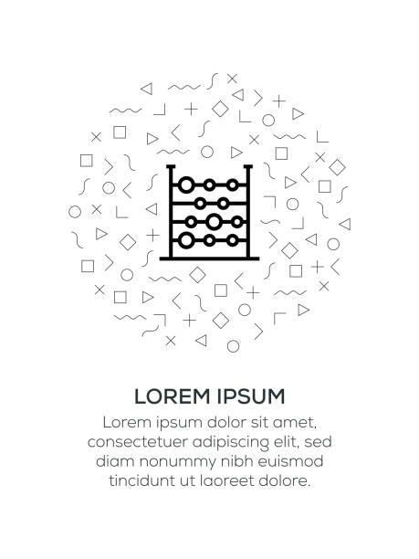 bildbanksillustrationer, clip art samt tecknat material och ikoner med abacus ikon ordnad med geometriska former - abakus