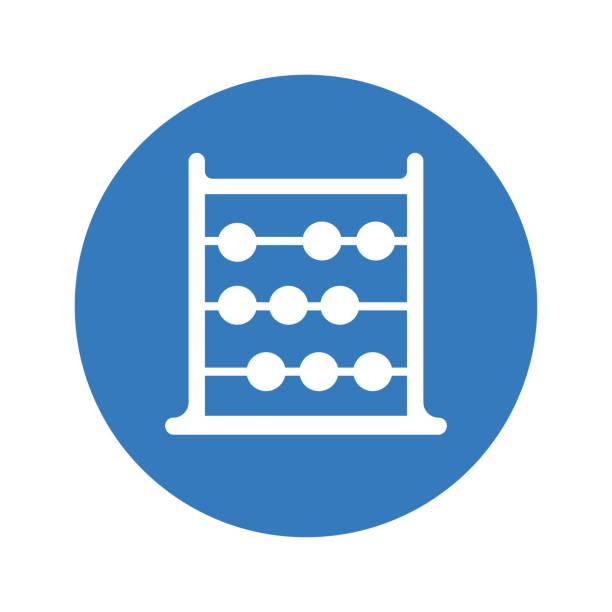 bildbanksillustrationer, clip art samt tecknat material och ikoner med abacus ikon, beräkna, blå färg vektor, matematik - abakus