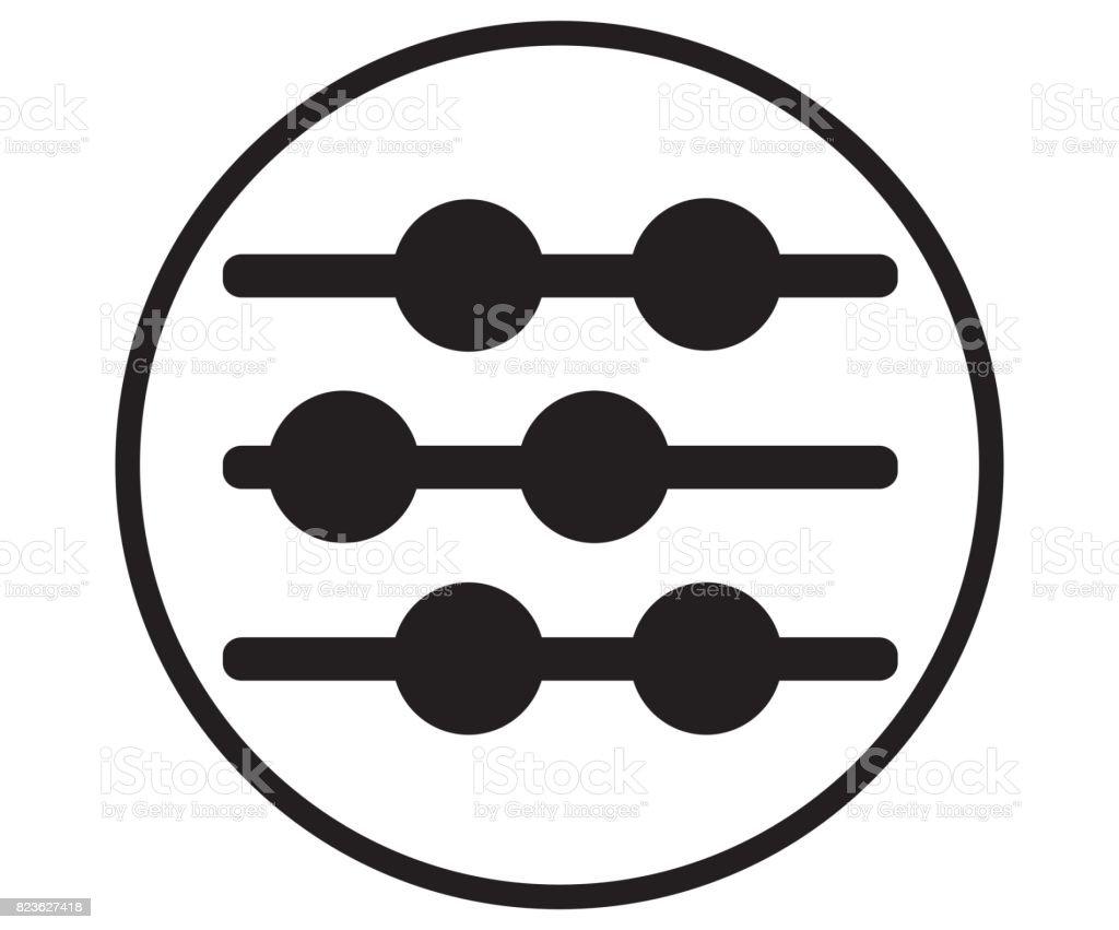 Abacus Icon Design Concept vector art illustration