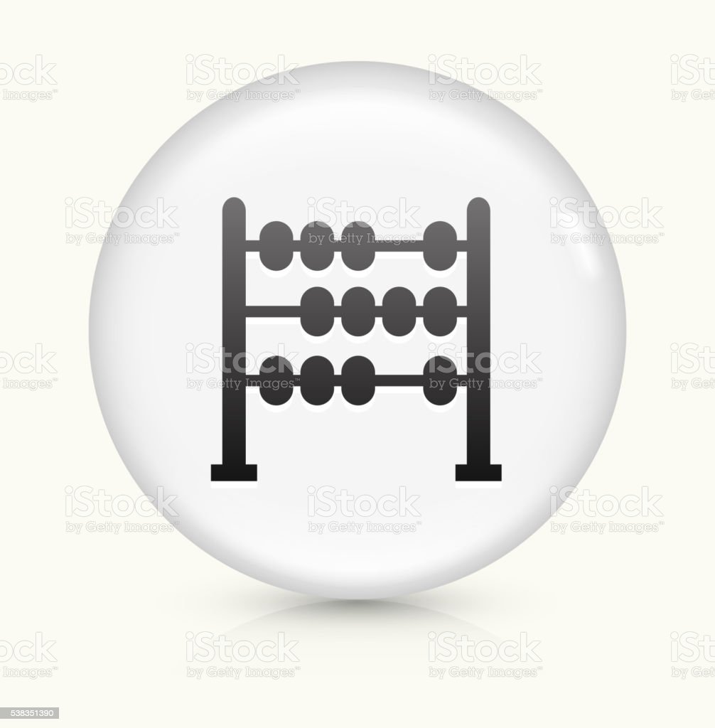 Abacus icon on white round vector button vector art illustration